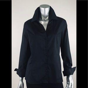 Talbots shirt black size 16p wide napolitan cuffs